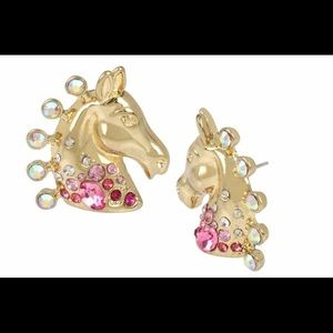 🐴 Betsey Johnson Show Horse Earrings🐴